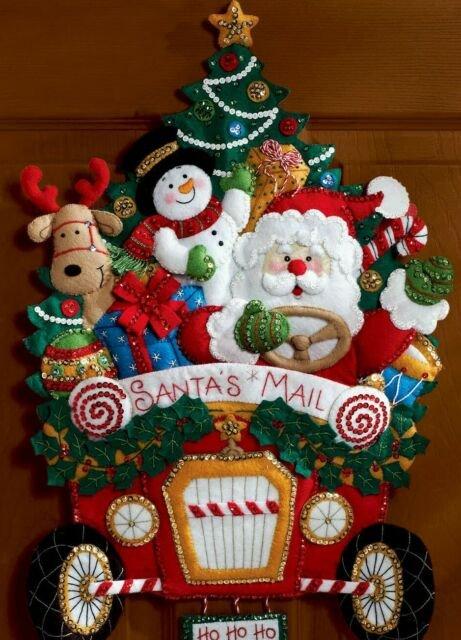 Bucilla Santa's Mail Truck Wall Hanging