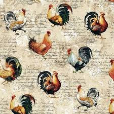 Farmer's Market- Rooster Toss on Cream