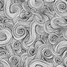 White w/ Black Swirl