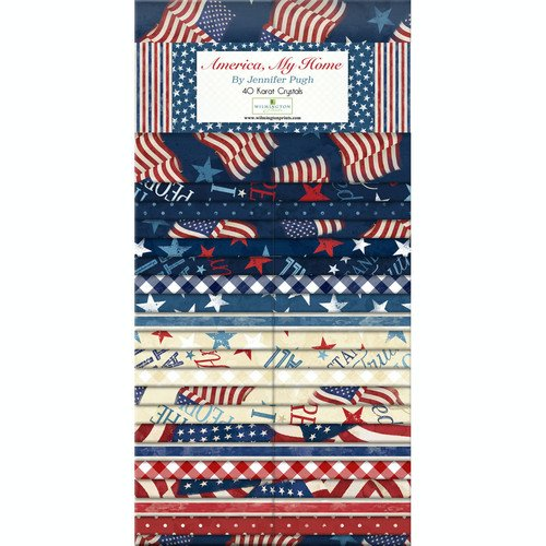 America, My Home - 10 in Squares, 42 pieces