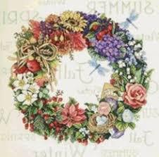 Dimensions- Wreath of All Seasons 14 x 14 Cross-Stitch