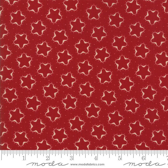 Fat Quarter - Star Stripe Gatherings - Red
