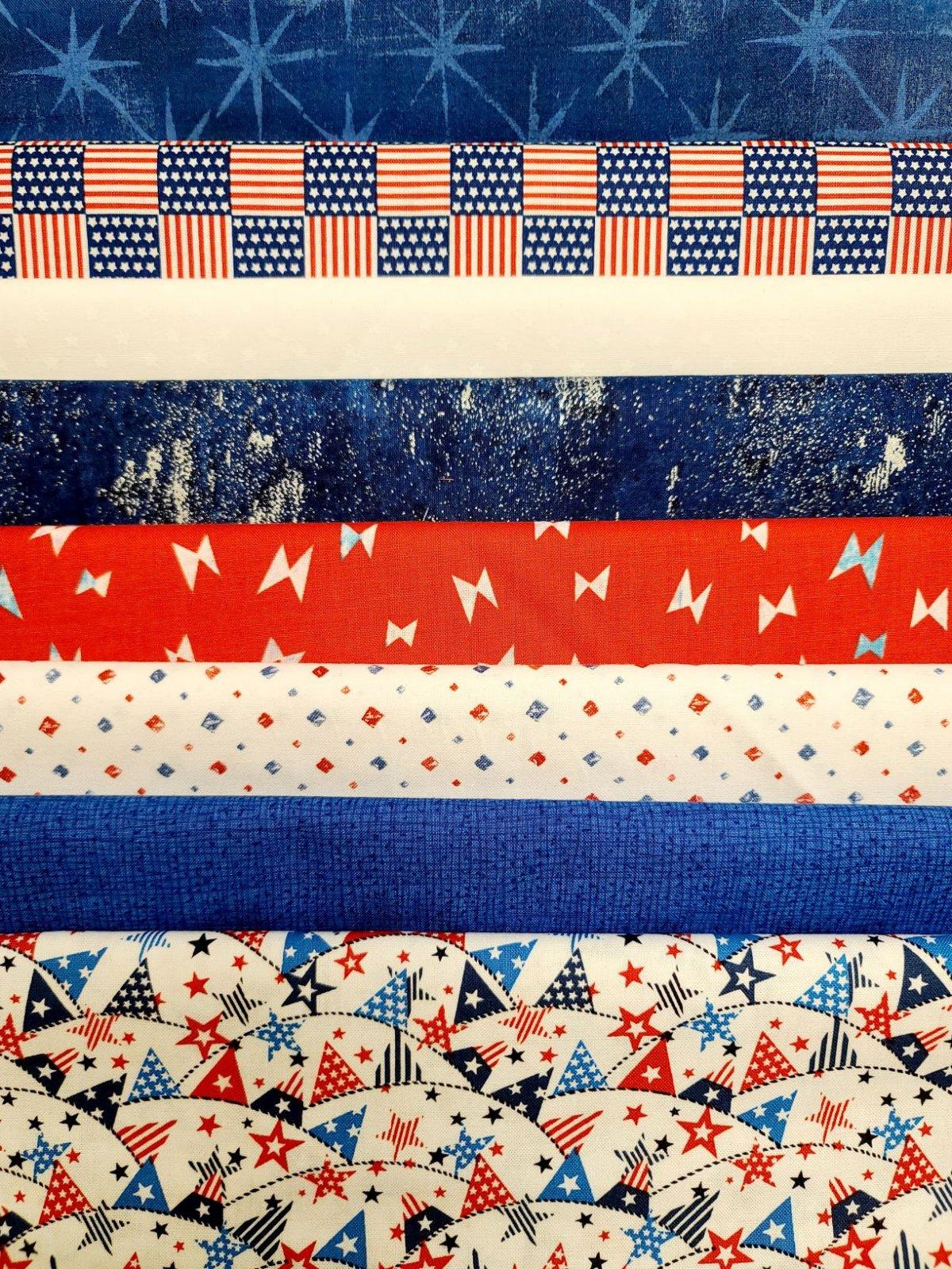 Fat Quarter Bundle, Red/White/Blue