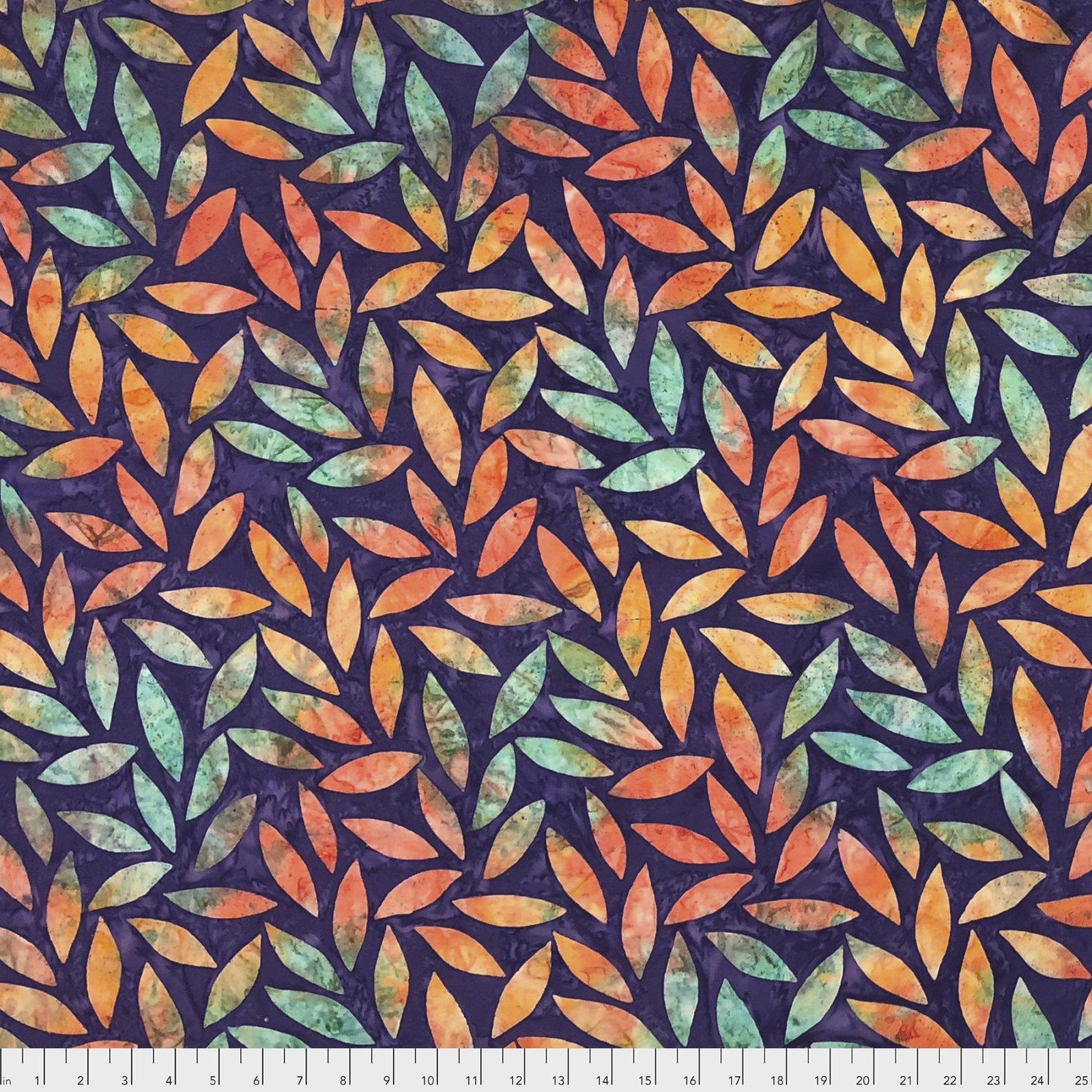 Fat Quarter - Artisan, Tumbling Leaf, Purple