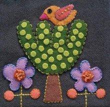Bird & Tree Precut Wool Applique