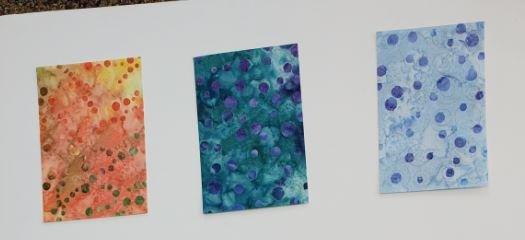 Bubble Laser Cuts, Multi Color Batik