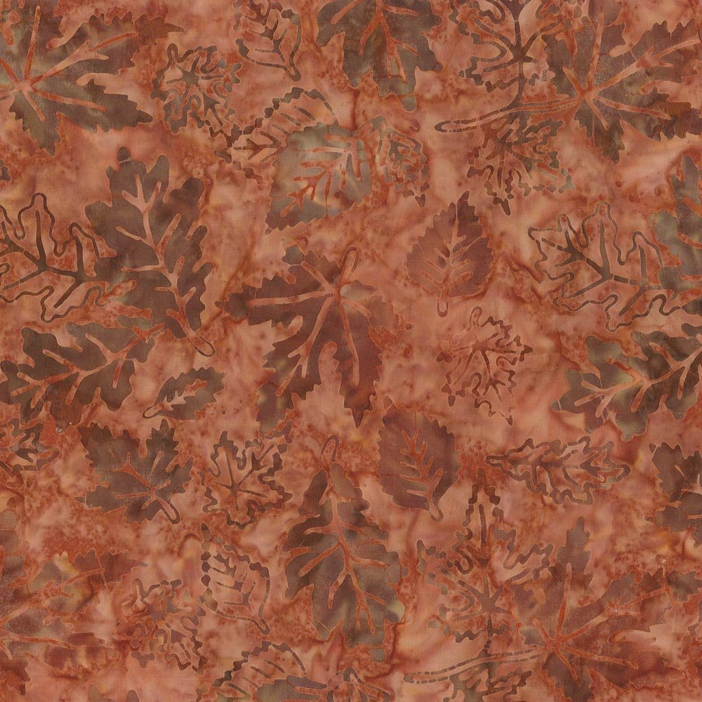 Batik, Falling Leaves, Brown