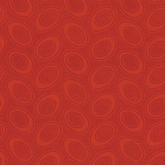 Fat Quarter - Aboriginal Dot, Red