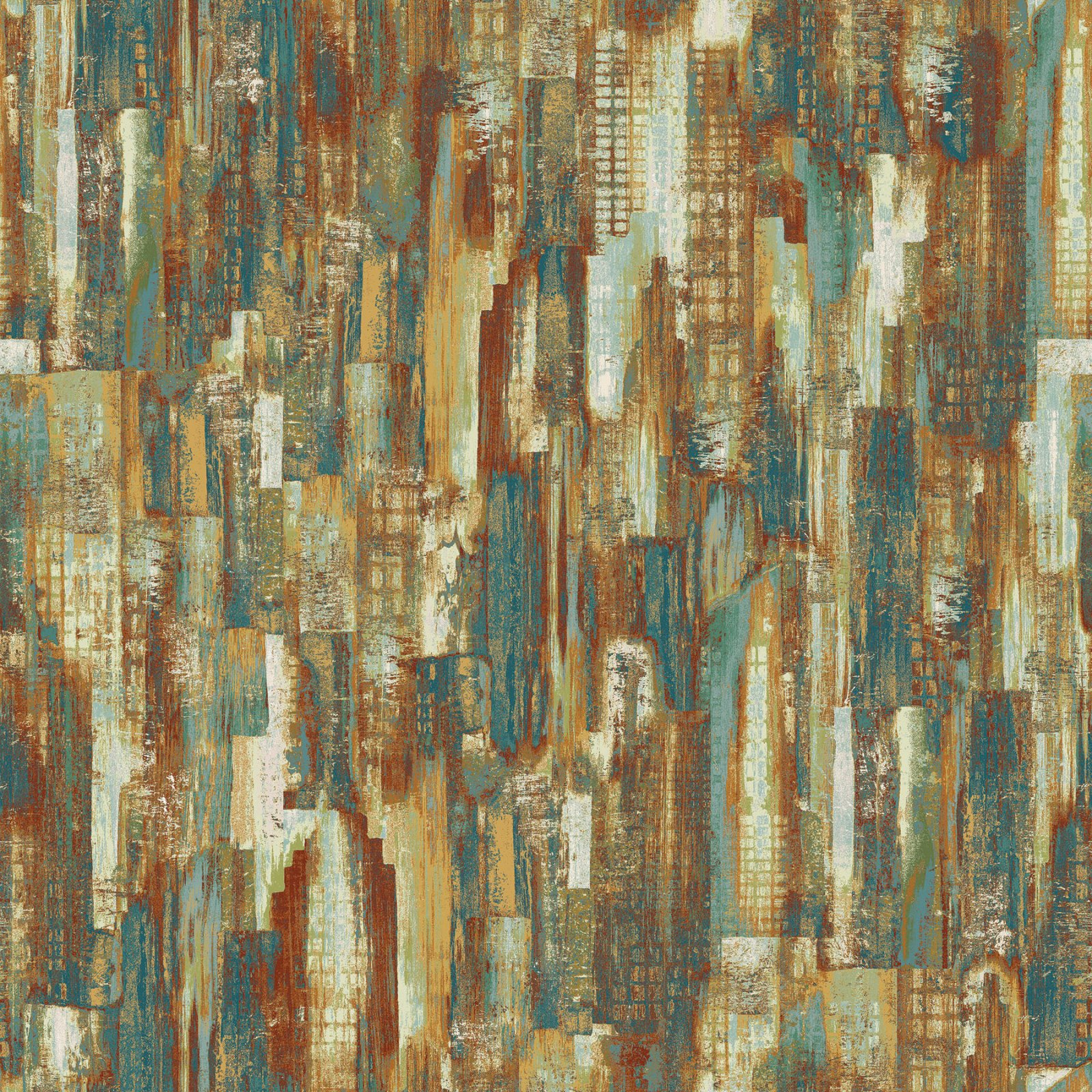 Urban Reflections Teal Multi