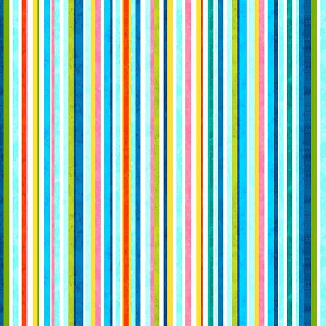 Blooming Ocean  5407-18 Multi Stripe