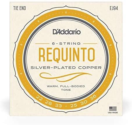 D'Addario Requinto Strings, Silver Coated Copper