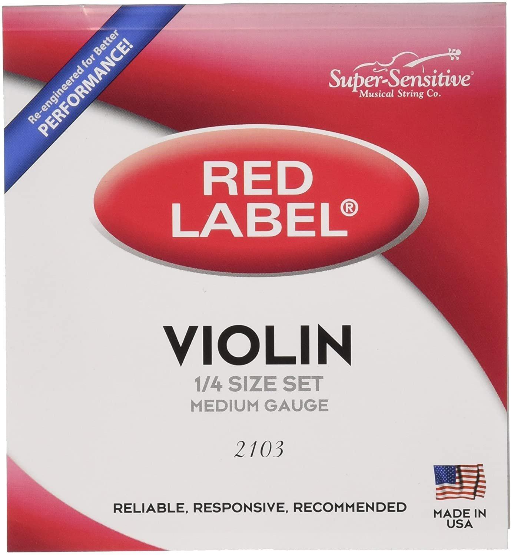 Red Label 1/4 Violin String Set