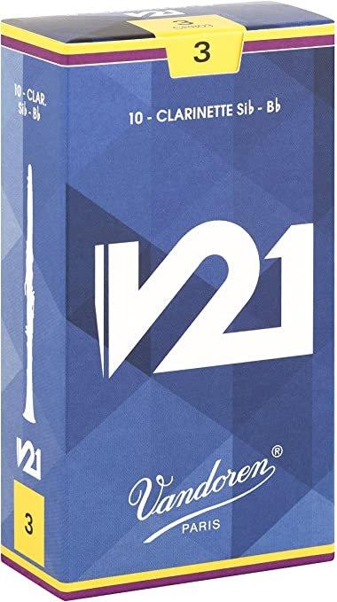 Vandoren Bb Clarinet V21 Reeds (Box of 10)