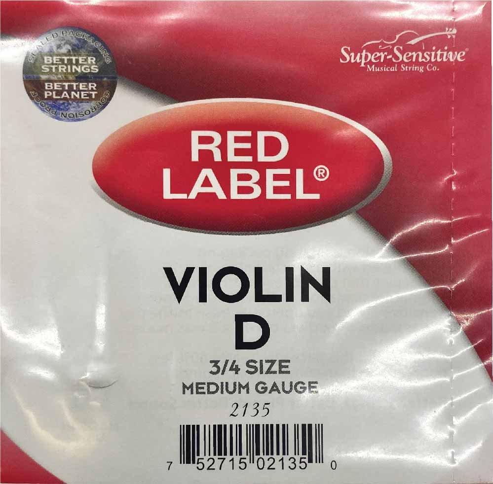 Red Label 3/4 D Violin String