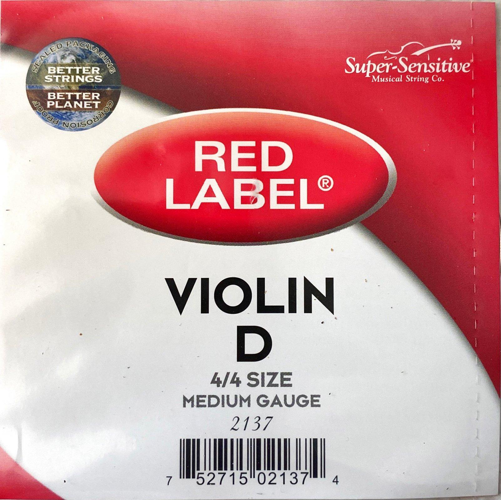 Red Label 4/4 Violin D String