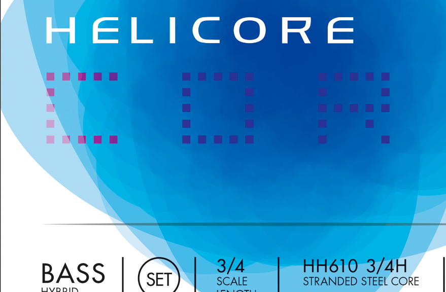 D'Addario Helicore Hybrid Bass String Set, 3/4 Scale, Heavy Tension