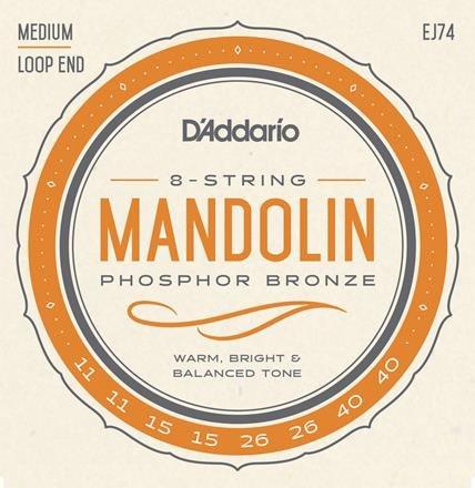 D'Addario EJ74 Mandolin Strings PB Medium 11-40