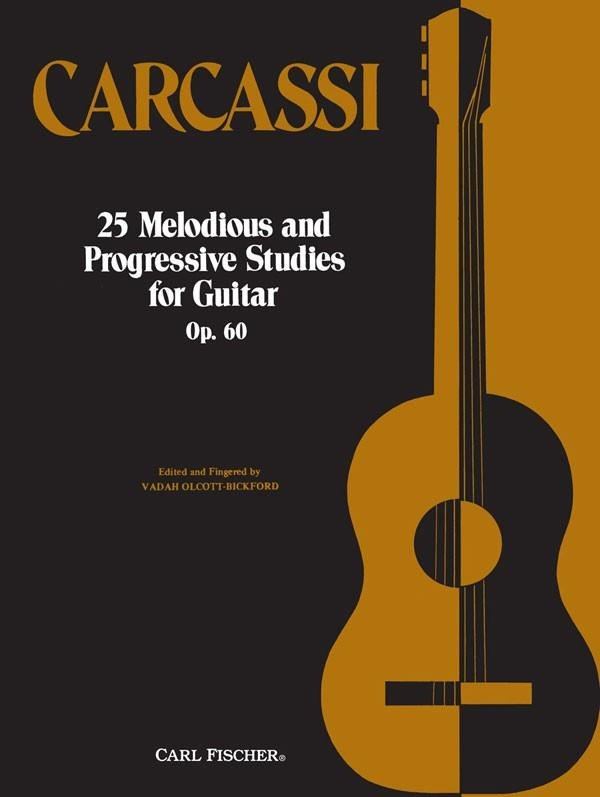 Carcassi 25 Melodious And Progressive Studies For Guitar Op. 60