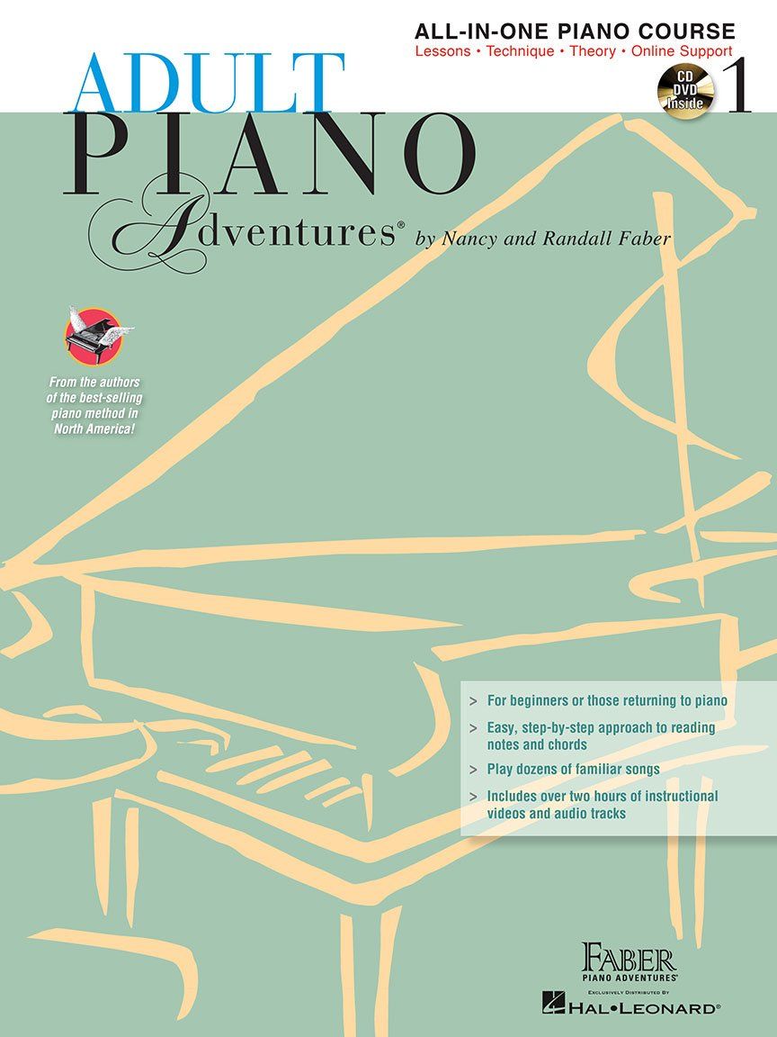 Adult Piano Adventures All-in-one Course Book 1 w/CD