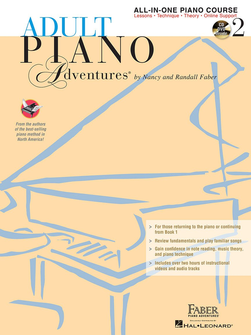 Adult Piano Adventures All-in-one Course Book 2 w/CD