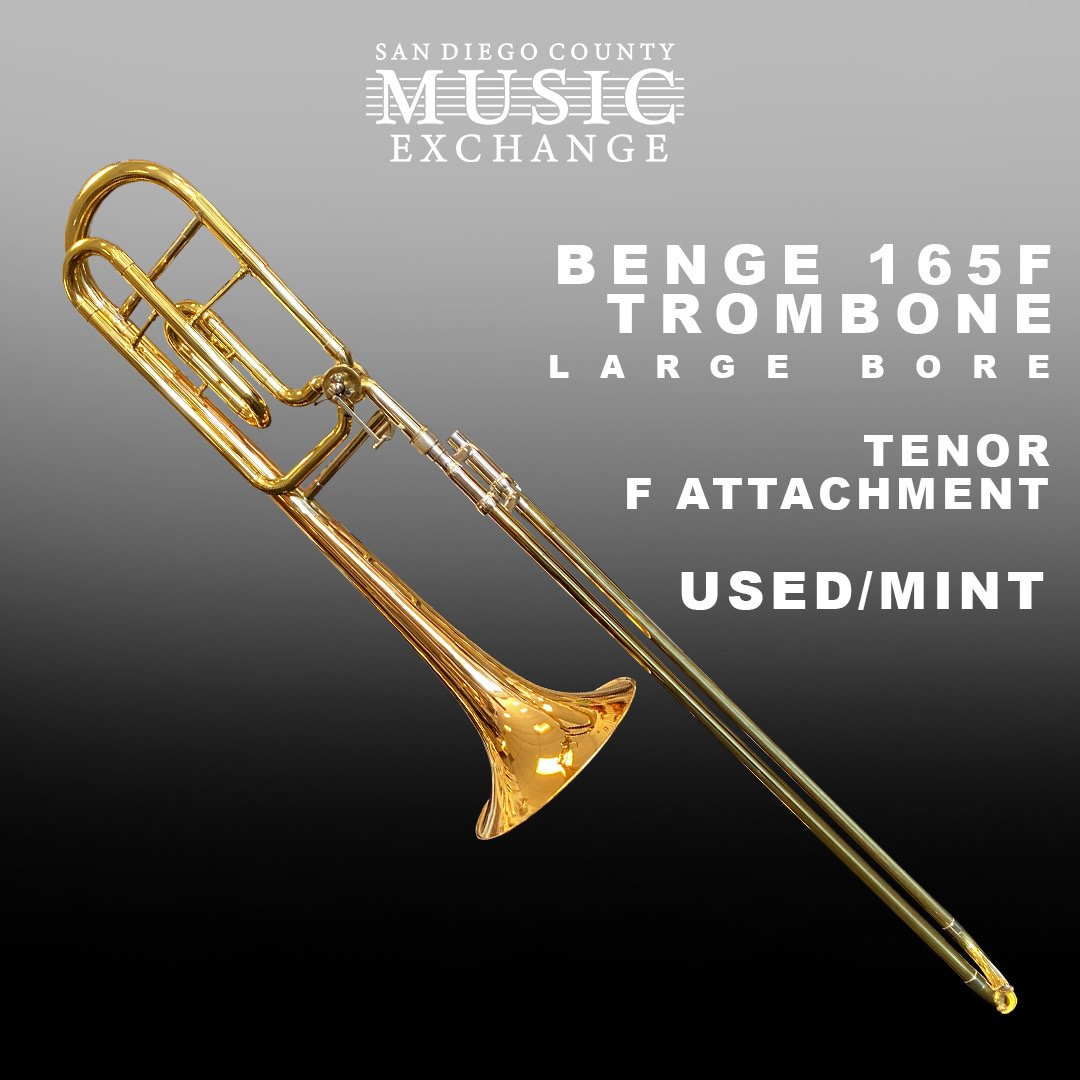 Benge 165F Large Bore Trombone w/ F