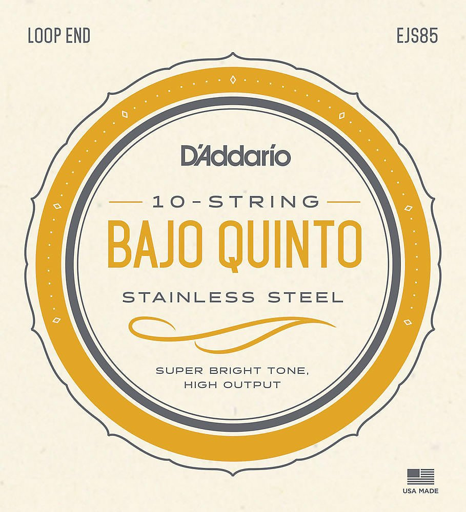 D'Addario Stainless Steel Bajo Quinto Strings
