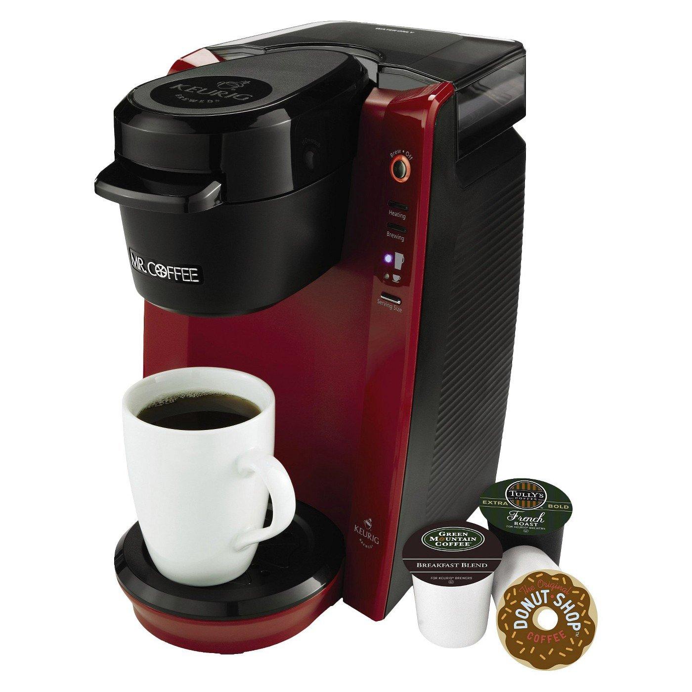 BVMC-KG5R:  Mr. Coffee Single Brew Black/Red
