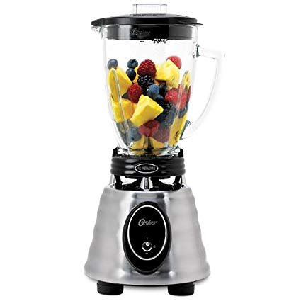 BPCT02-BA1: OSTER 6-Cup Glass Jar 2-Speed Toggle Beehive Blender Brushed Stainless