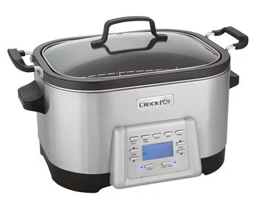 SCCPMC600-S-NP: Crock-Pot 6-Quart 5-in-1 Multi-Cooker with Non-Stick Inner Pot Stainless Steel