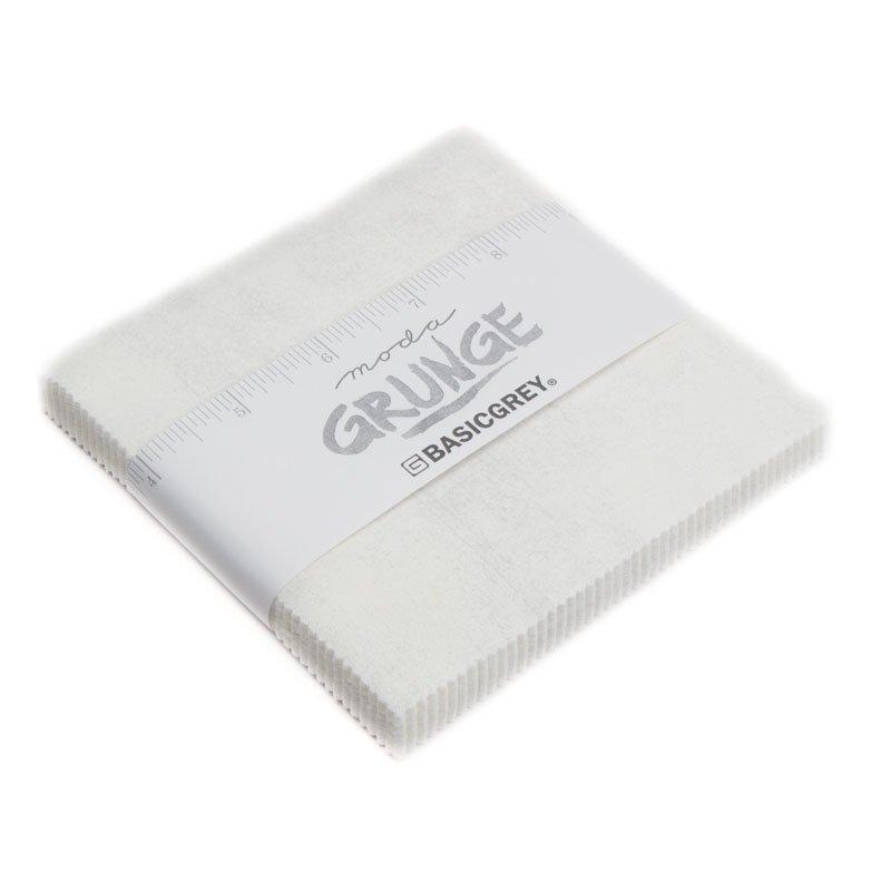 Grunge White Paper Charm Pack