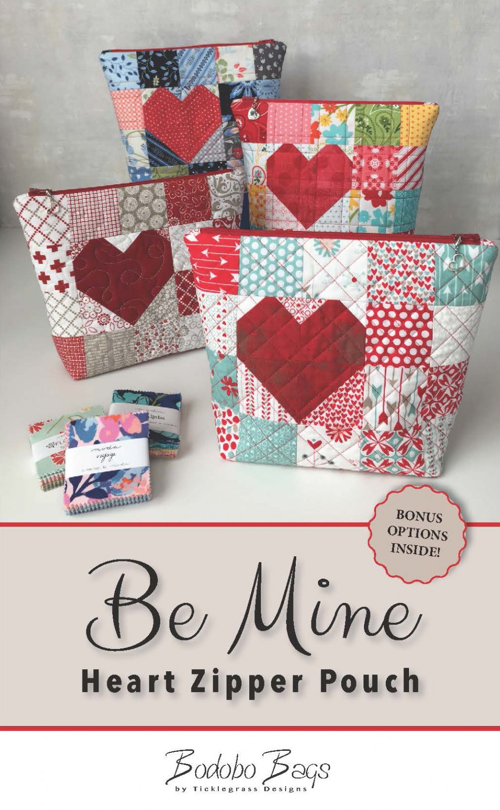 Be Mine Heart Zipper Pouch Patte