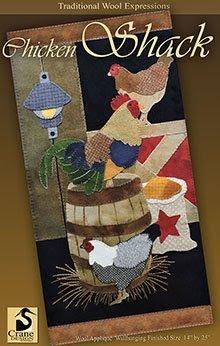 Chicken Shack Wool Applique Pattern