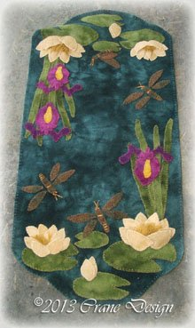 Water Lily Magic Wool Applique Pattern