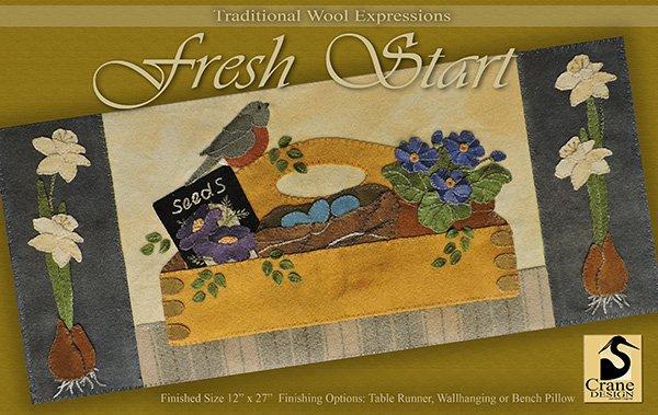 Fresh Start Wool Applique Pattern