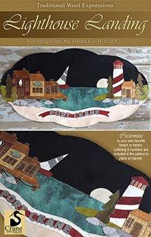 Lighthouse Landing Wool Applique Pattern