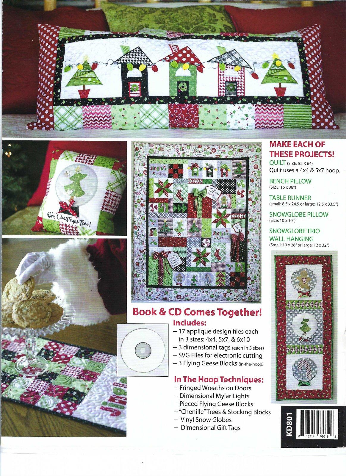 North Pole Neighborhood Bench Pillow Fabric Kit