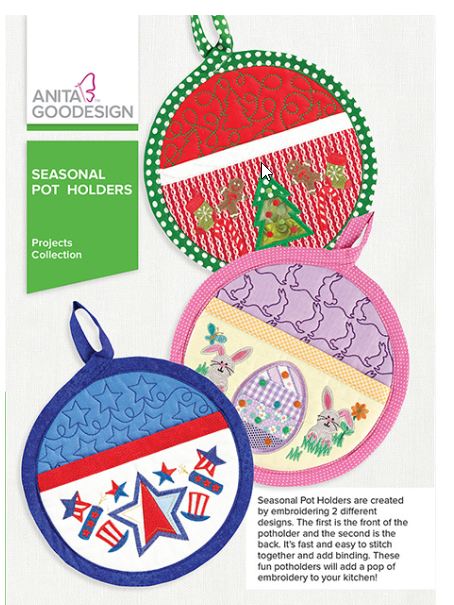 Anita Goodesigns - Seasonal Pot Holders