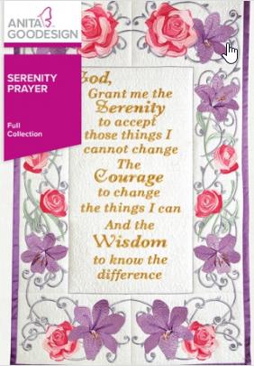 Anita Goodesign - Serenity Prayer