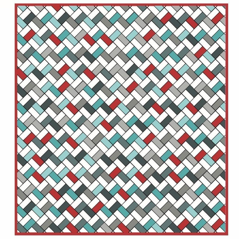 Spiny Peaks - 67 x 73 - Includes backing fabric and pattern