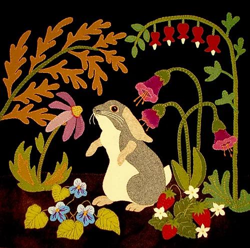 A Garden Intruder - Bunny Rabbit Series pattern - Summer