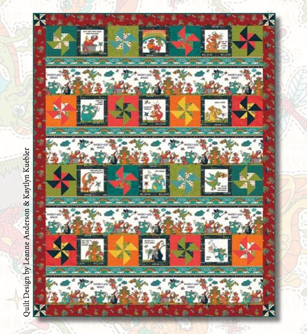 Whirly-Gig Magic Quilt Kit #2 (Includes backing fabric and pattern)