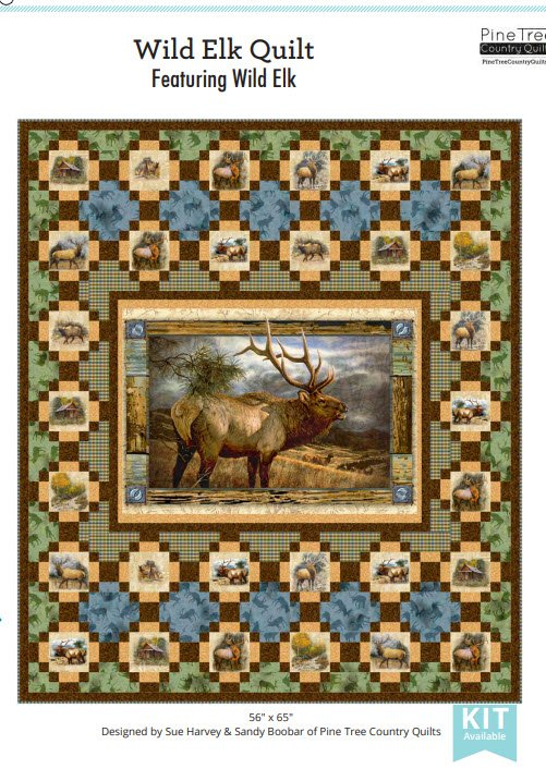 Wild Elk Quilt Kit - 56 x 65 - Includes backing fabric and pattern