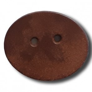 28mm Brown Oval Button