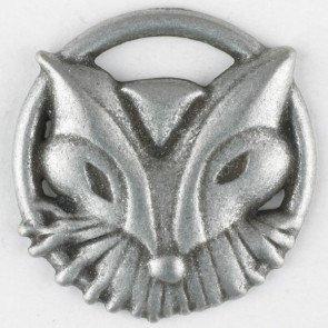 Foxy Fringe Antique Tin Button