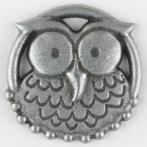 Hoot Owl Antique Tin Button