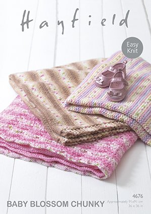 Baby Blossom Chunky Blanket Pattern 4676