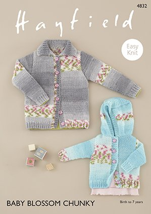 Baby Blossom Chunky Cardigan Pattern 4832