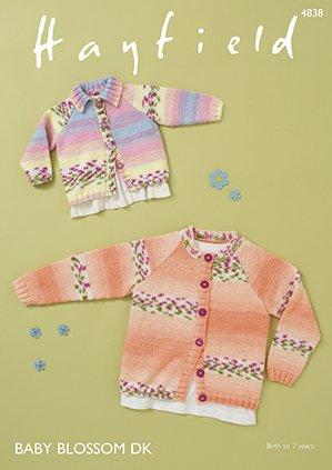 Round Neck & Collared Neck Sweater Pattern from Hayfield 4838