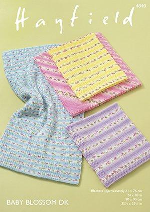 Hayfield Baby Blossom DK Blanket Patterns 4840