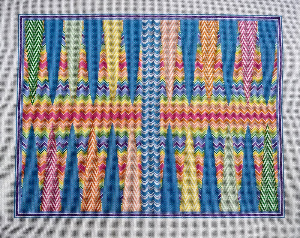 Bargello Backgammon Board AF69